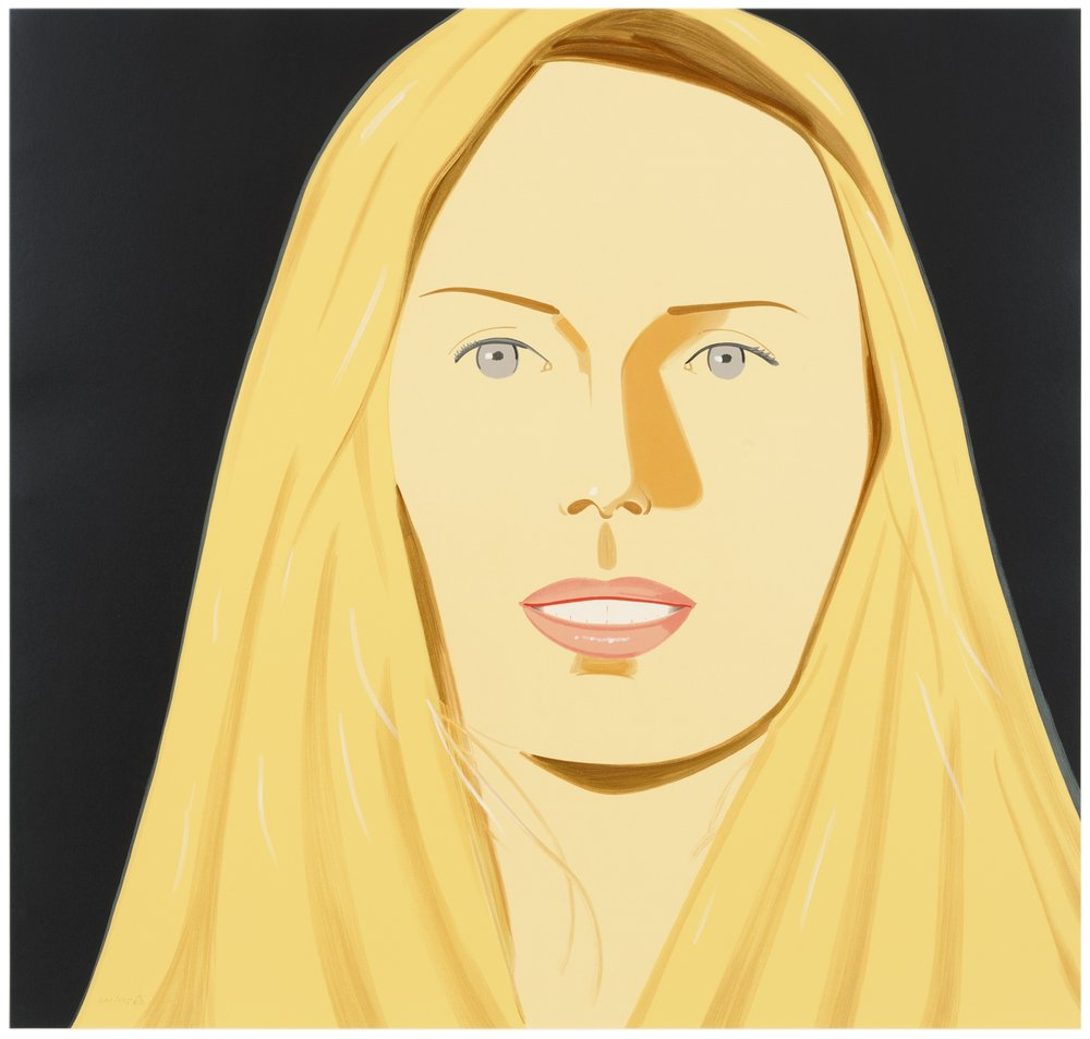 Alex Katz,Sarah White two-ply museum board 41 x 39 inches 2012