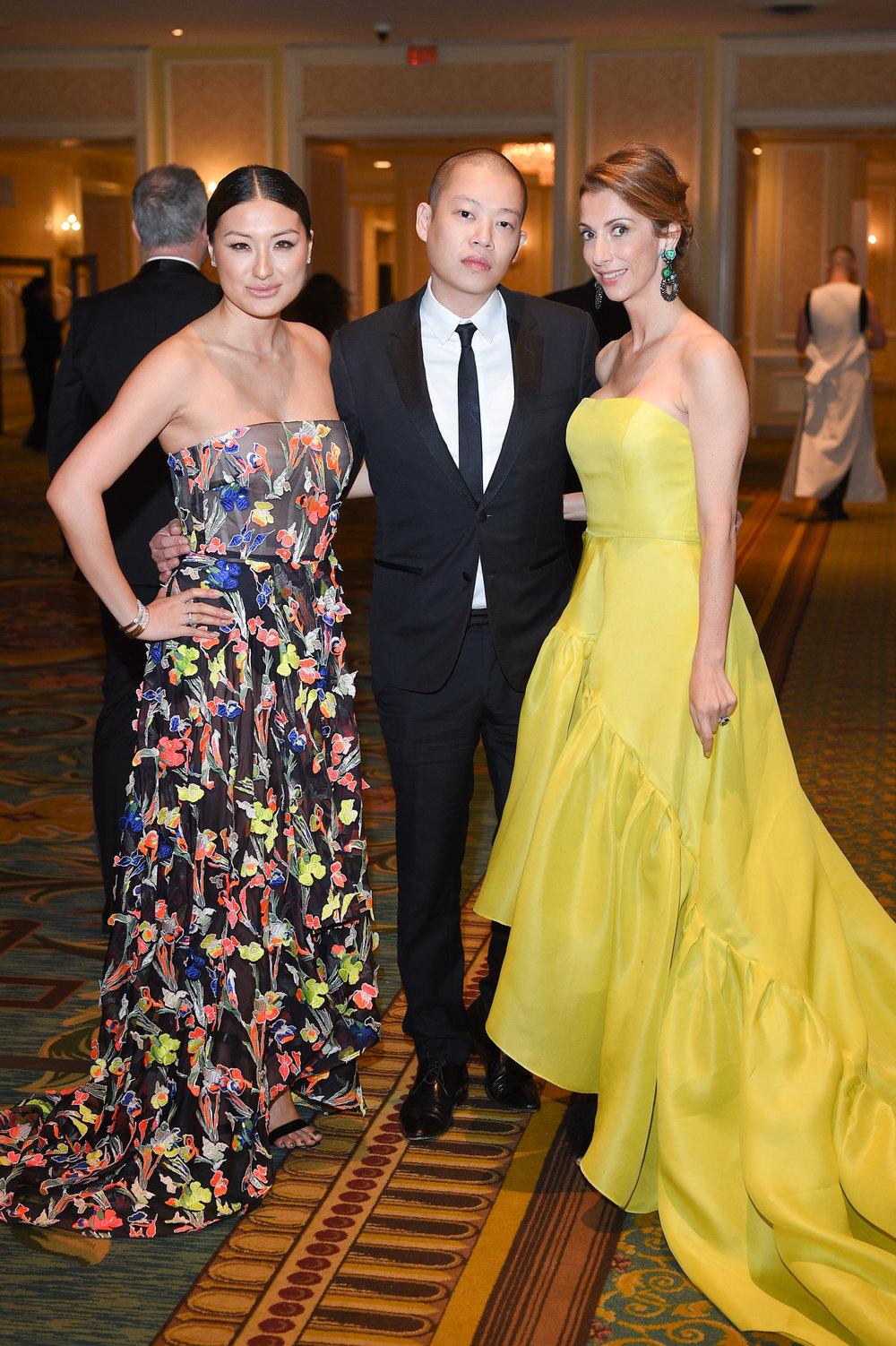 Vancouver-raised, New York-based Fashion designer Jason Wu (centre) attends the Canadian Arts and Fashion Awards at the Fairmount Royal York in Toronto