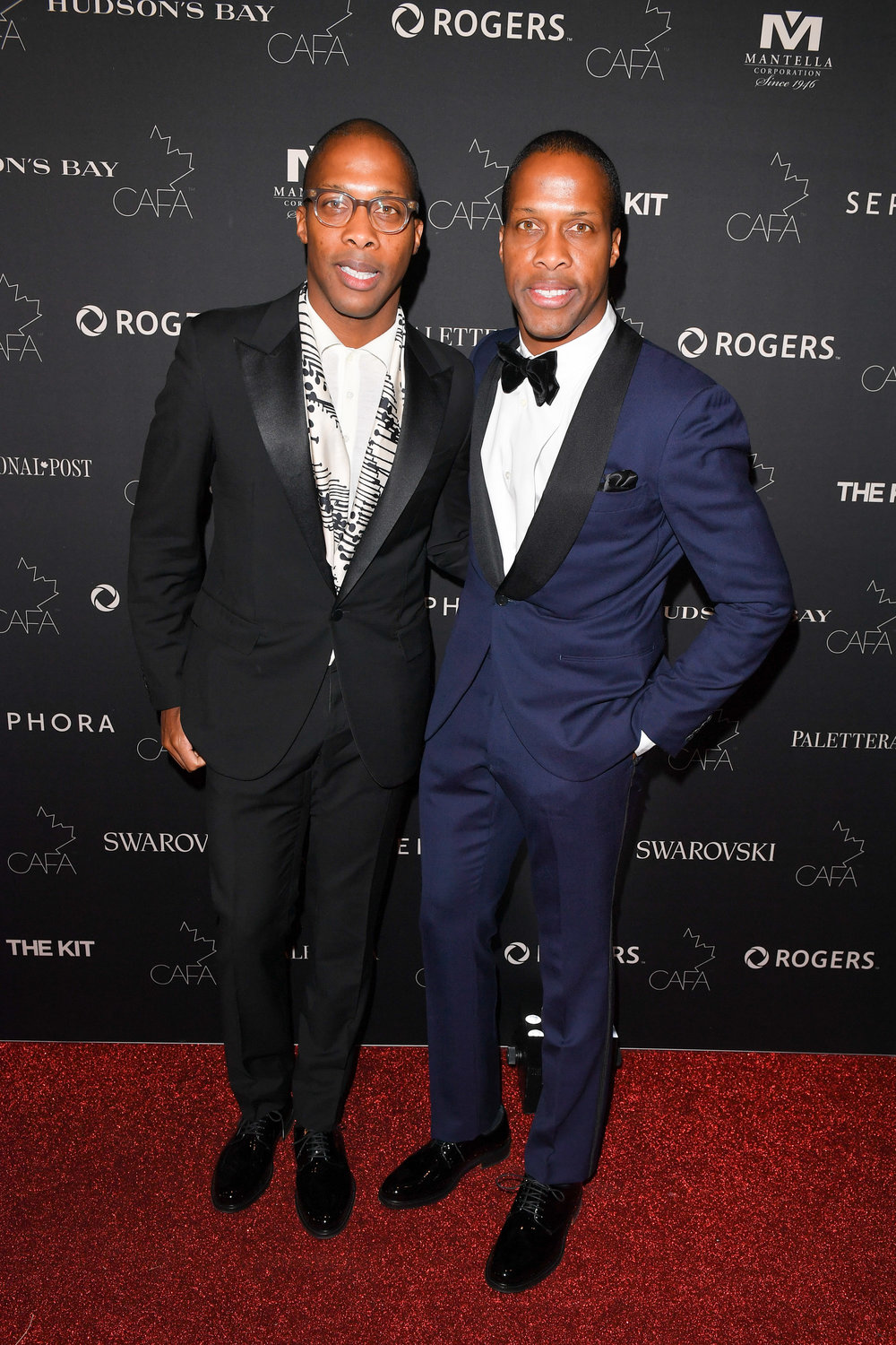 Byron and Dexter Peart, of WANT les essentials de la vie, attend the Canadian Arts and Fashion Awards at the Fairmount Royal York in Toronto