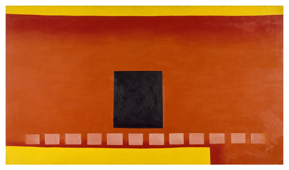 Georgia O'Keeffe, Black Door with Red, 1954 Oil paint on canvas, 121.9 × 213.4 cm Chrysler Museum of Art, Norfolk, VA, Bequest of Walter P. Chrysler, Jr. 89.63 © Georgia O'Keeffe Museum