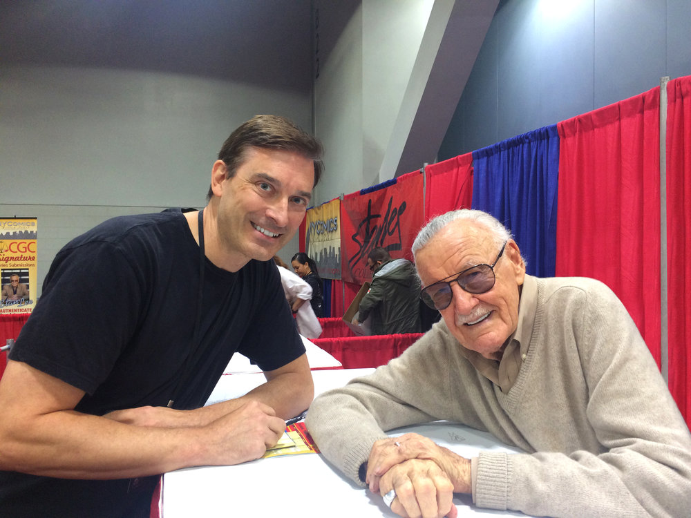 Bob Batchelor with Stan Lee at Cincinnati Comic Expo, September 2016