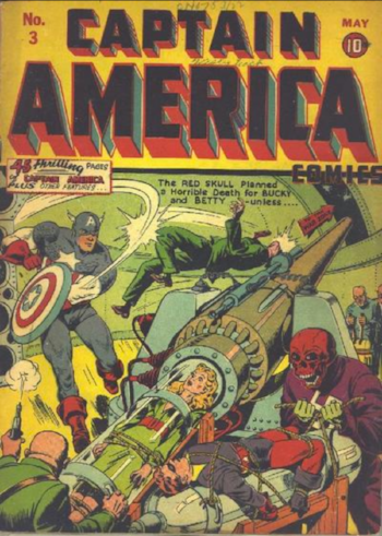 Cover of Captain America #3, Stan Lee's first writing credit for Marvel in 1941