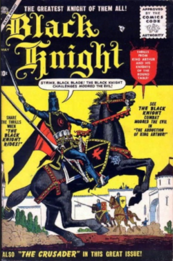 The Black Knight, created by Stan Lee and Joe Maneely for Marvel Comics (then known as Atlas Comics)