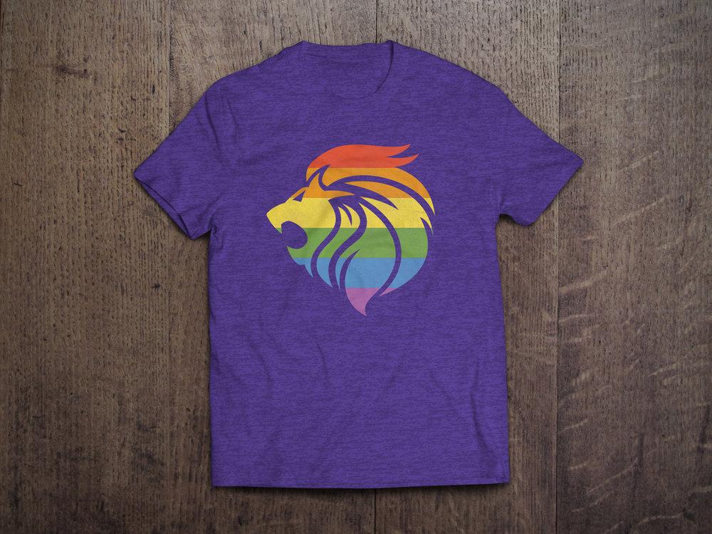 Pride Lion Head T-Shirt MockUp Purple-2.jpg