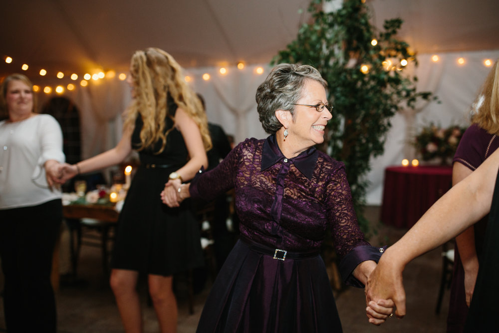 My mom and niece dancing.