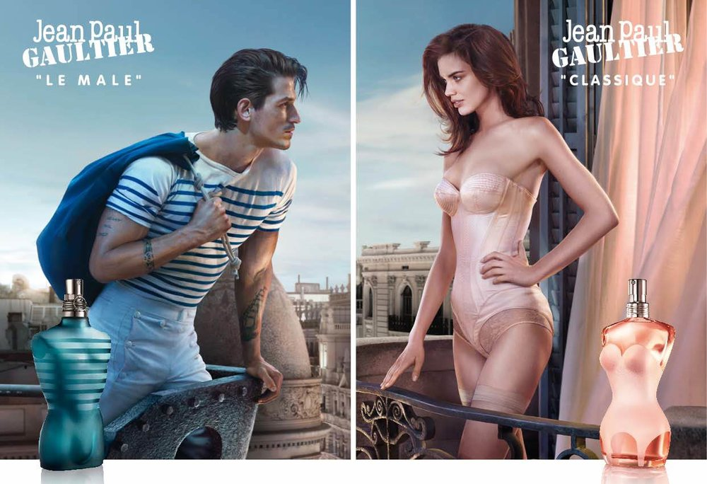 """Parfums pour homme """"Le Mâle"""" et pour femme """"Classique"""""""