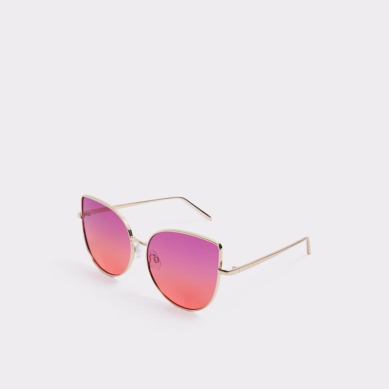 5. La dernière touche est une paire de lunettes soleil de chez Aldo qui rappelle un beau coucher de soleil de soirée chaude d'été. Elles nous font aussi voir la vie en rose...fuchsia ! - Aldo, www.aldoshoes.com