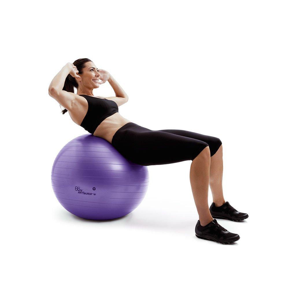BALLON SUISSE - Excellent item pour travailler en déséquilibre, ne sous-estimez pas le potentiel du ballon suisse à donner une coche d'intensité supplémentaire à vos exercices. Très utile pour travailler les abdos!