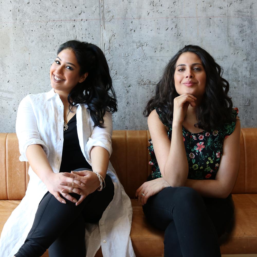 "Kavita Ajwani et Diana Eskander, organisatrices de l'évènement ""He said, she said, Bridging the gap between Tinder & love"""