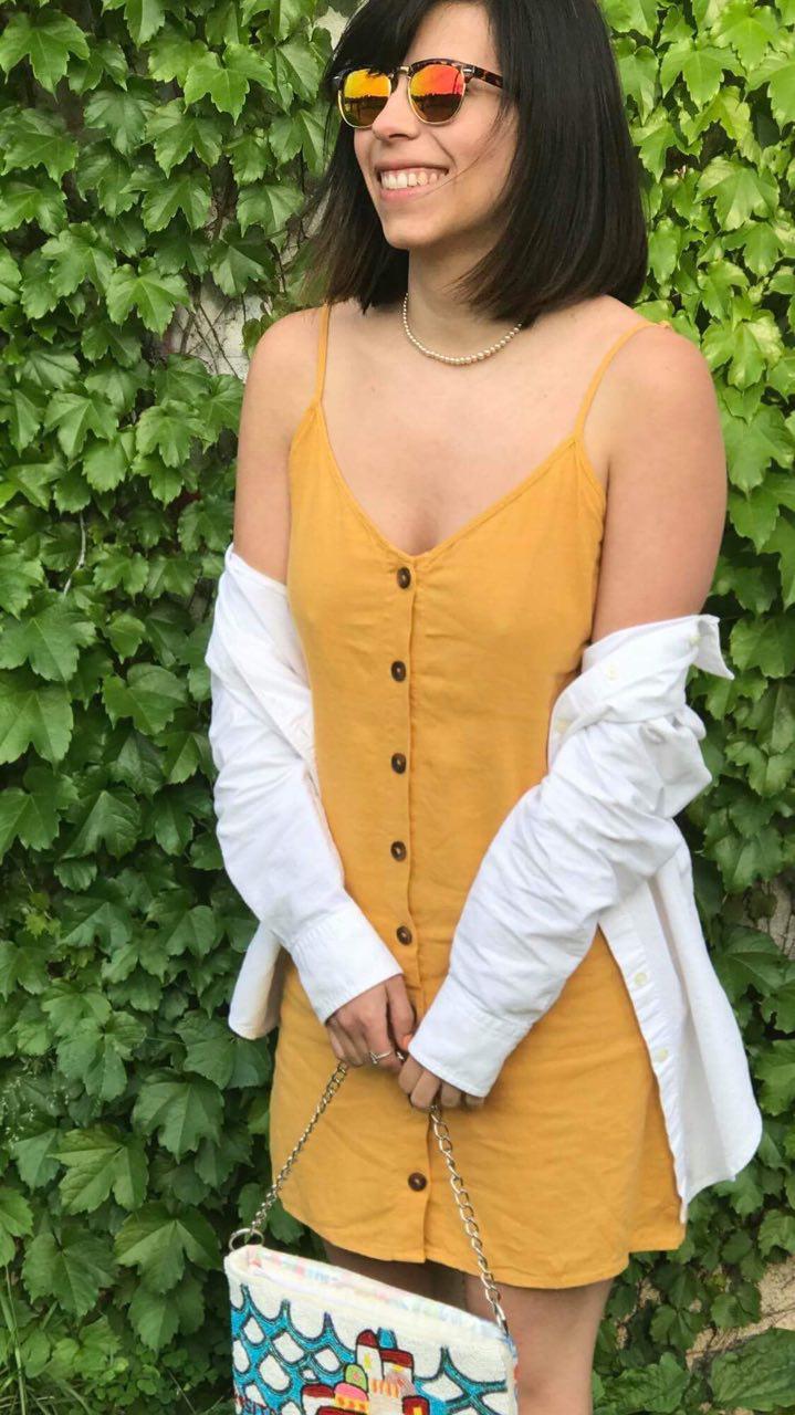Mon #OOTD pour la soirée Le Cahier, robe Forever 21 et sacoche achetée à Positano en Italie