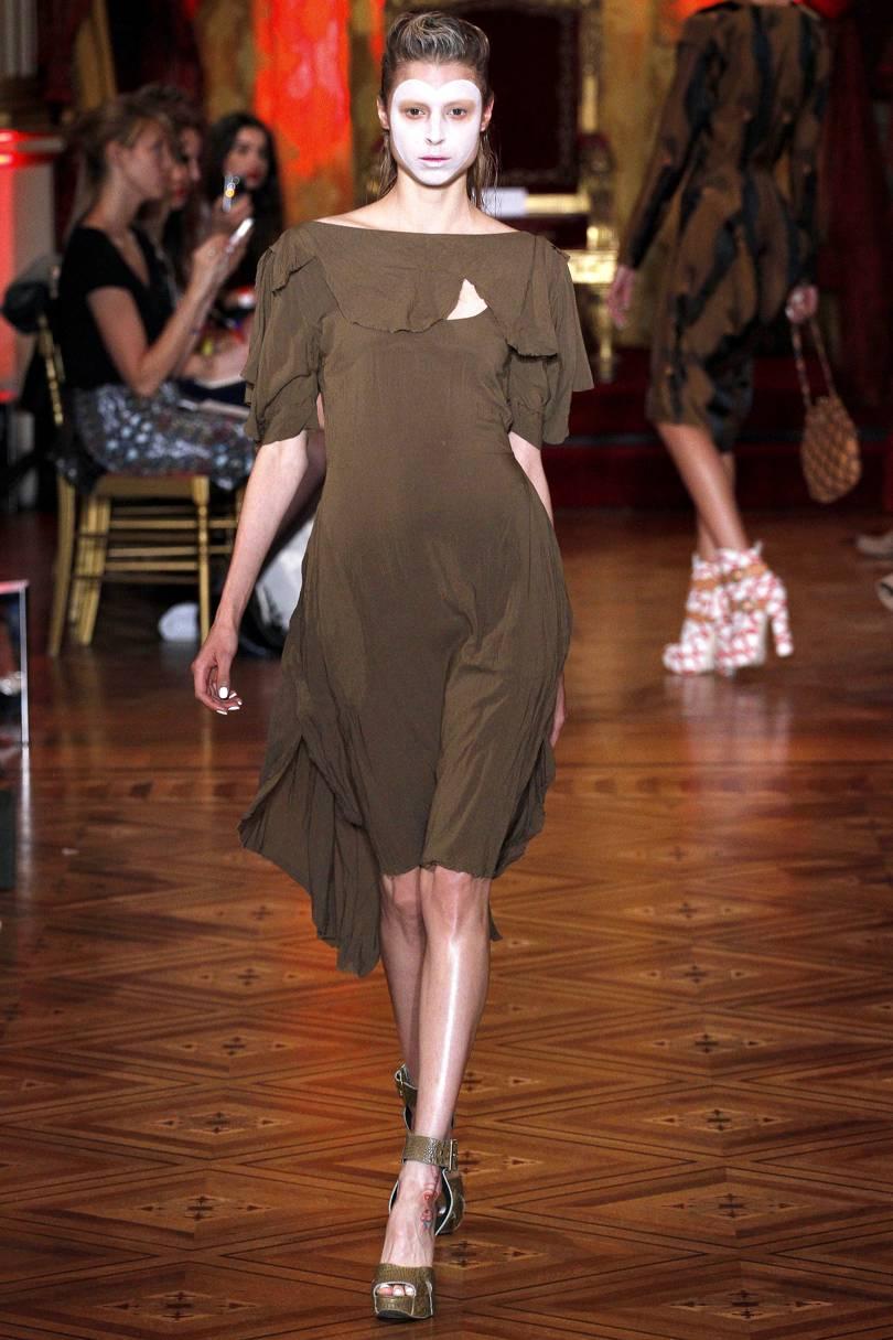 Charlie Paille, Défilé Vivienne Westwood, Printemps-Été 2013 (source Vogue)