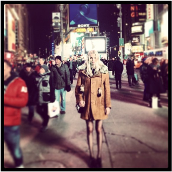 Charlie à Times Square en 2013