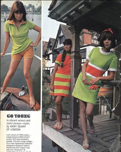 Publicité pour les vêtements de Mary Quant