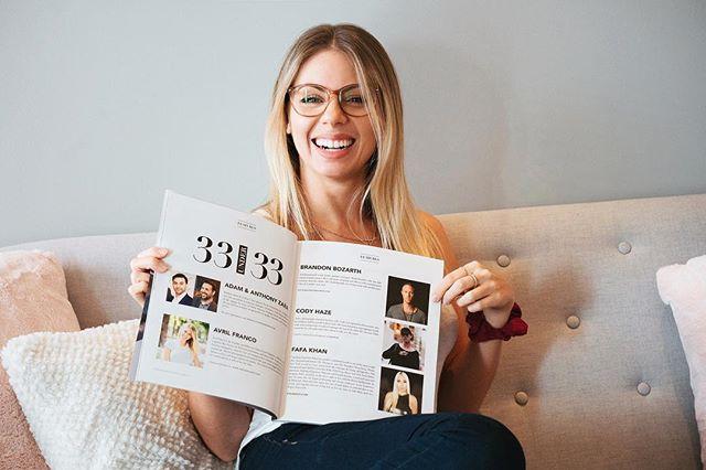 Cette fois-ci c'est à mon tour d'être dans un magazine 🤭🥰🙏💖 Honorée de figurer dans l'article «33 under 33» par @rebeccaiperez du @gossclub qui mentionne 33 super entrepreneurs en bas de 33 ans ✨ Lien dans la bio pour aller découvrir les 32 autres entrepreneurs 💖