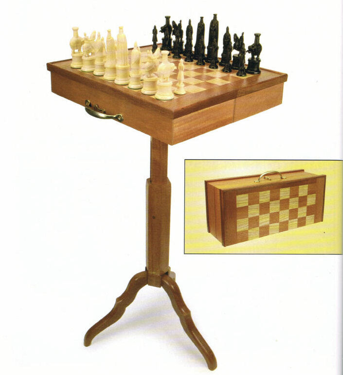 Travel game Table, Woodcraft Magazine, March 2006