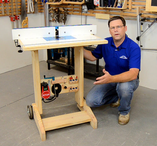 Folding Router Table Plans Woodcademy