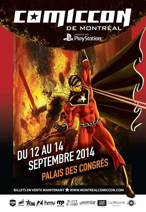 Poster for 2014 Montreal ComicCon