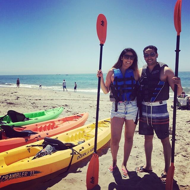 Ready Kayakers on East Beach 🌴 #kayaks #eastbeach #eastbeachrentals #beachlife