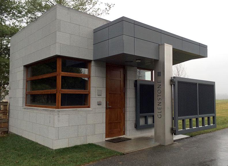Glenstone Museum security gatehouse, Potomac, Maryland.