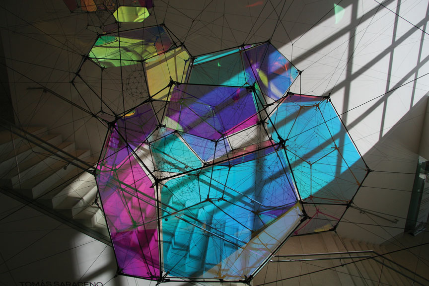 Tomás Saraceno   Entangled Orbits , 2017