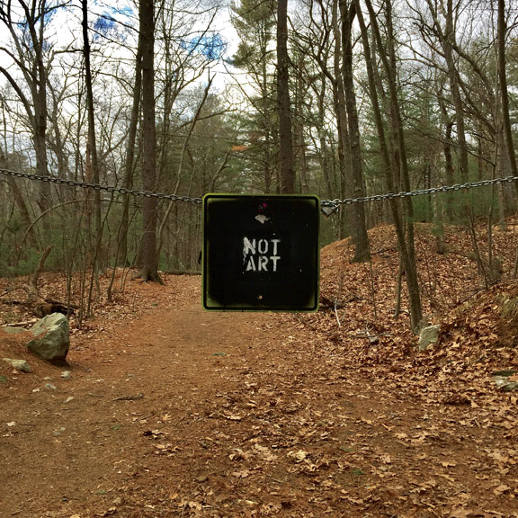 Exhibit A:  NOT ART  at the Middlesex Fells Reservation outside of Boston.
