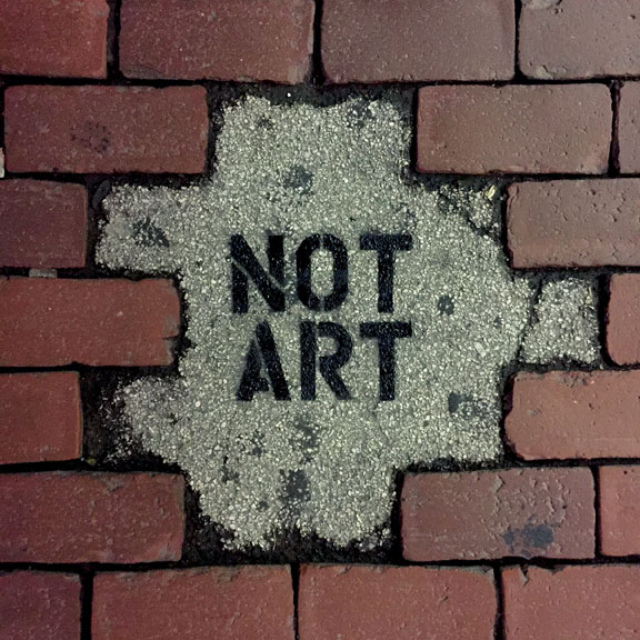 Exhibit F:  NOT ART  in Cambridge, Massachusetts.