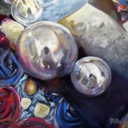 "'Reflection"" Pastel on board copyright 2016 Honey Lea Gaydos"