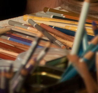 The pencil section of my taboret