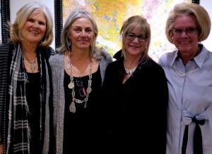 left to right- artists: Linda Randono, Carol Myers, Honey Lea Gaydos, Taffy Mulliken