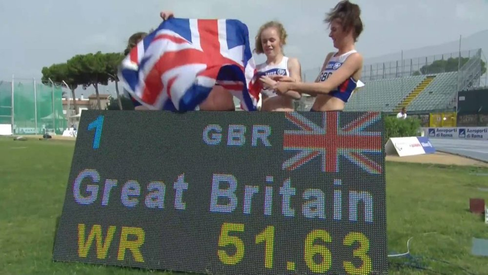 T35-38 4x100 relay World Record British