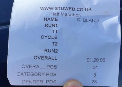 Eton Dorney Half Marathon Chip time