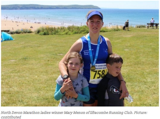 Mary Menon North Devon Marathon