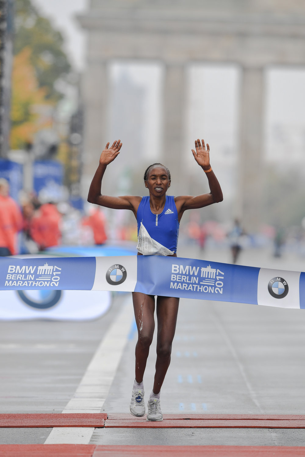 Last year's winner, Gladys Cherono. Copyright SCC EVENTS/Jiro Mochizuki