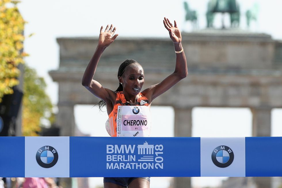 New course record & PB by over a minute for Gladys Cherono