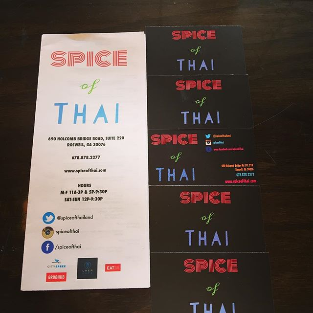 Spice of thai for Aiyara thai cuisine menu