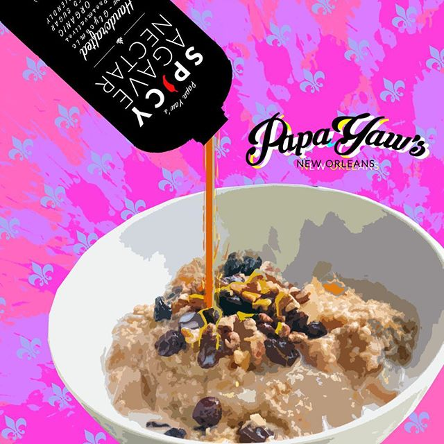 Pour it on #oatmeal #delicious #breakfast #eat #food #goodmorning #foodie #instagood #healthyfood #instafood #huffposttaste #nomnomnom #love #spicyagave #agavenectar #sweet #spicy #gym #workout #forkyeah #foodblogger #shop #nolaeats #nyc #california #texas #miami