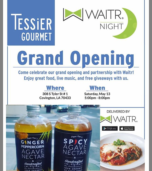We will be @tessiergourmet Grand Opening this Saturday #supportsmallbusiness #local #delish #instafood #instagood #eat #charcuterie #cheese #spicyagave #agavenectar #foodie #foodblogger #goodmorning #tasty #sweet #spicy #nomnom  #tessiergourmet #waitr #foodstagram @noladining