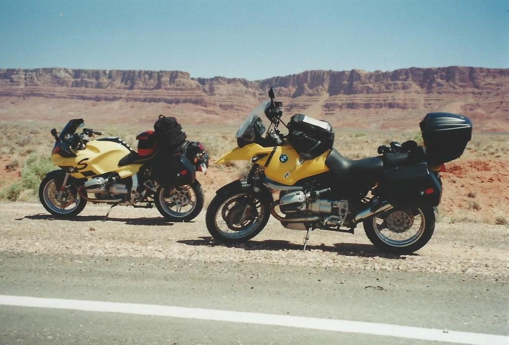 BMW R1100S and BMW R1150GS Vermillion Cliffs.jpg