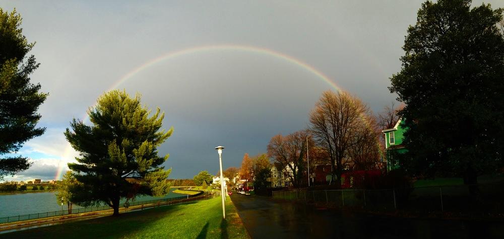 Rainbow over Lake Montebello