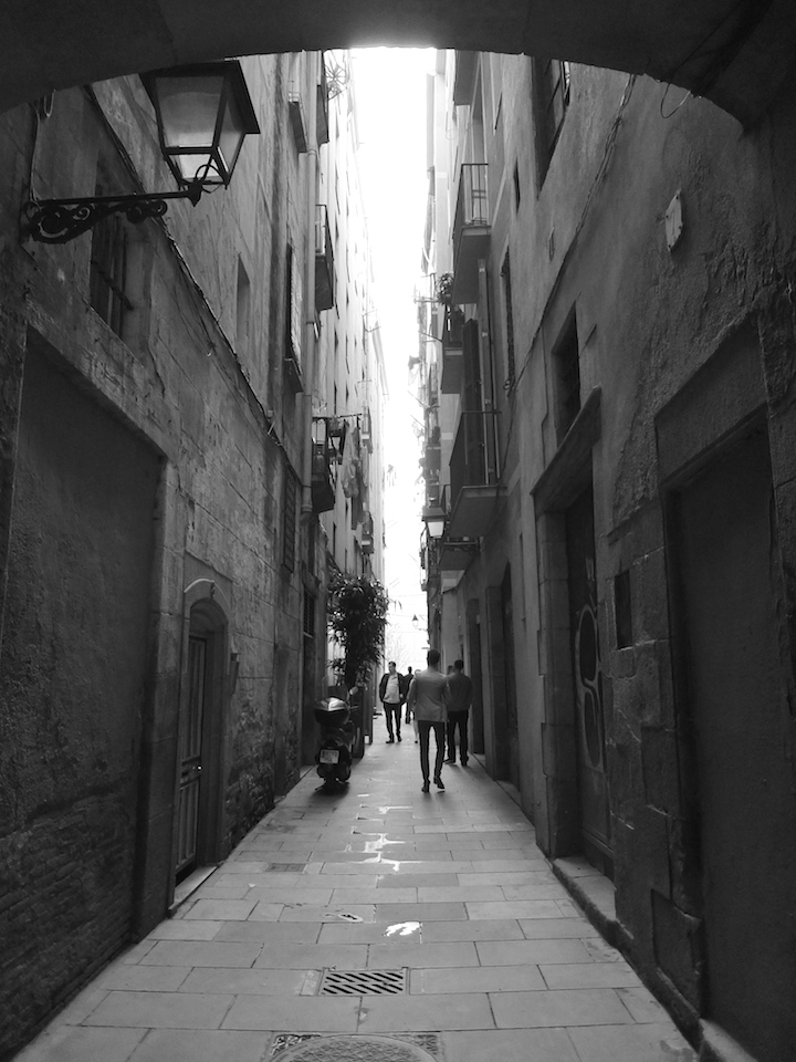 Alleyway in the Born area Barcelona