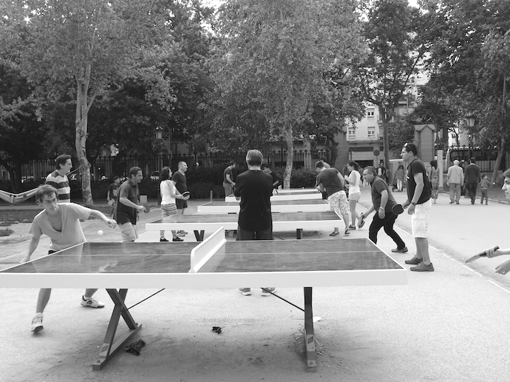 Table tennis in Parc de la Ciutadella Barcelona