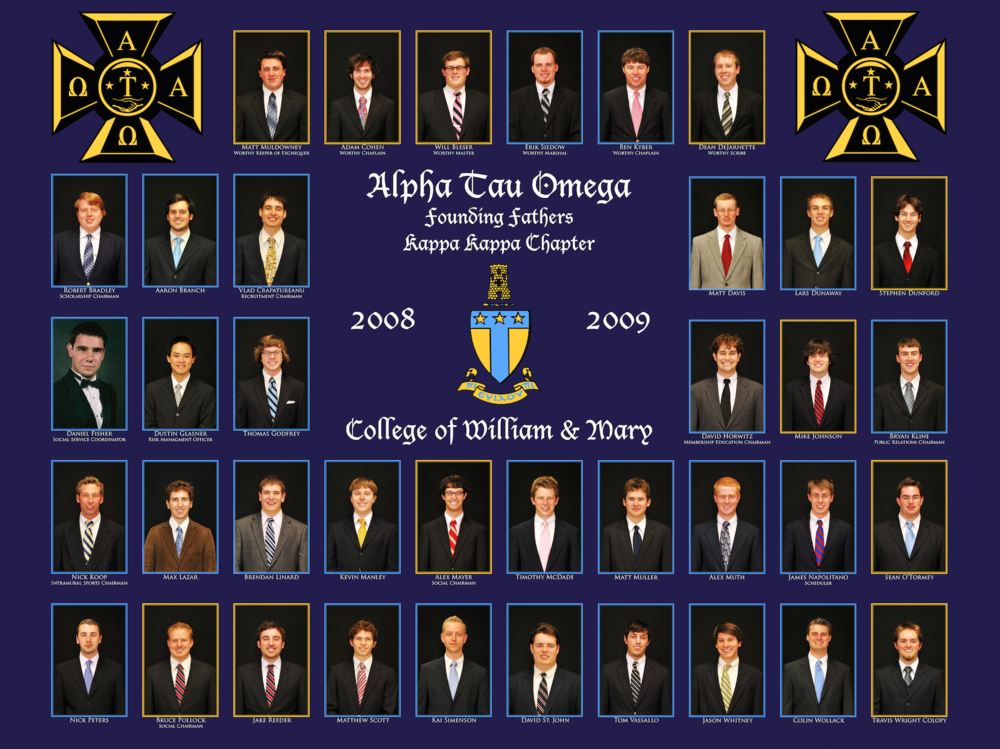 The Founding Fathers of Alpha Tau Omega at William and Mary