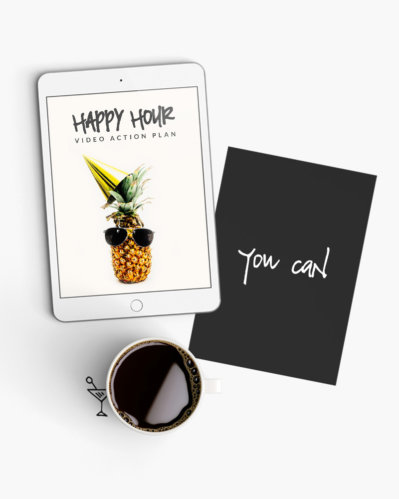 Happy Hour - Not sure how to move forward with video? Let's have a chinwag for an hour to get you back on track so you can hit the ground running, instead of hitting the bottle.£225