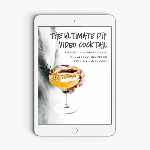 The Ultimate diy video cocktail - Designed to help you take stock of where you're at and provide tips for future video success, this pdf questionnaire will not only help you figure out where you need to focus, it'll help you improve your video quality.