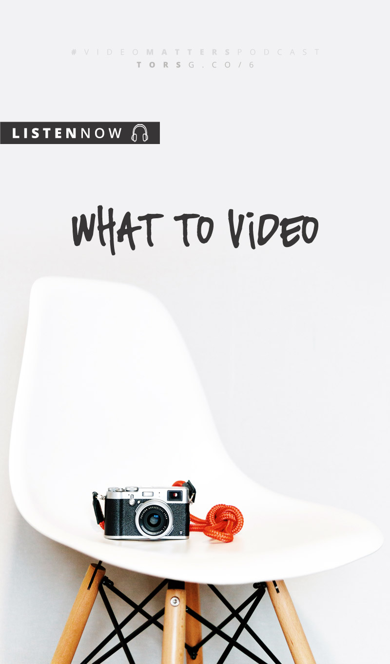 OO6: What To Video - this week I want to chat about what to video, because … well, in the interests of transparency, because I've been struggling to figure this out myself and I thought I'd work my way through a process and, why not, at the same time help you!