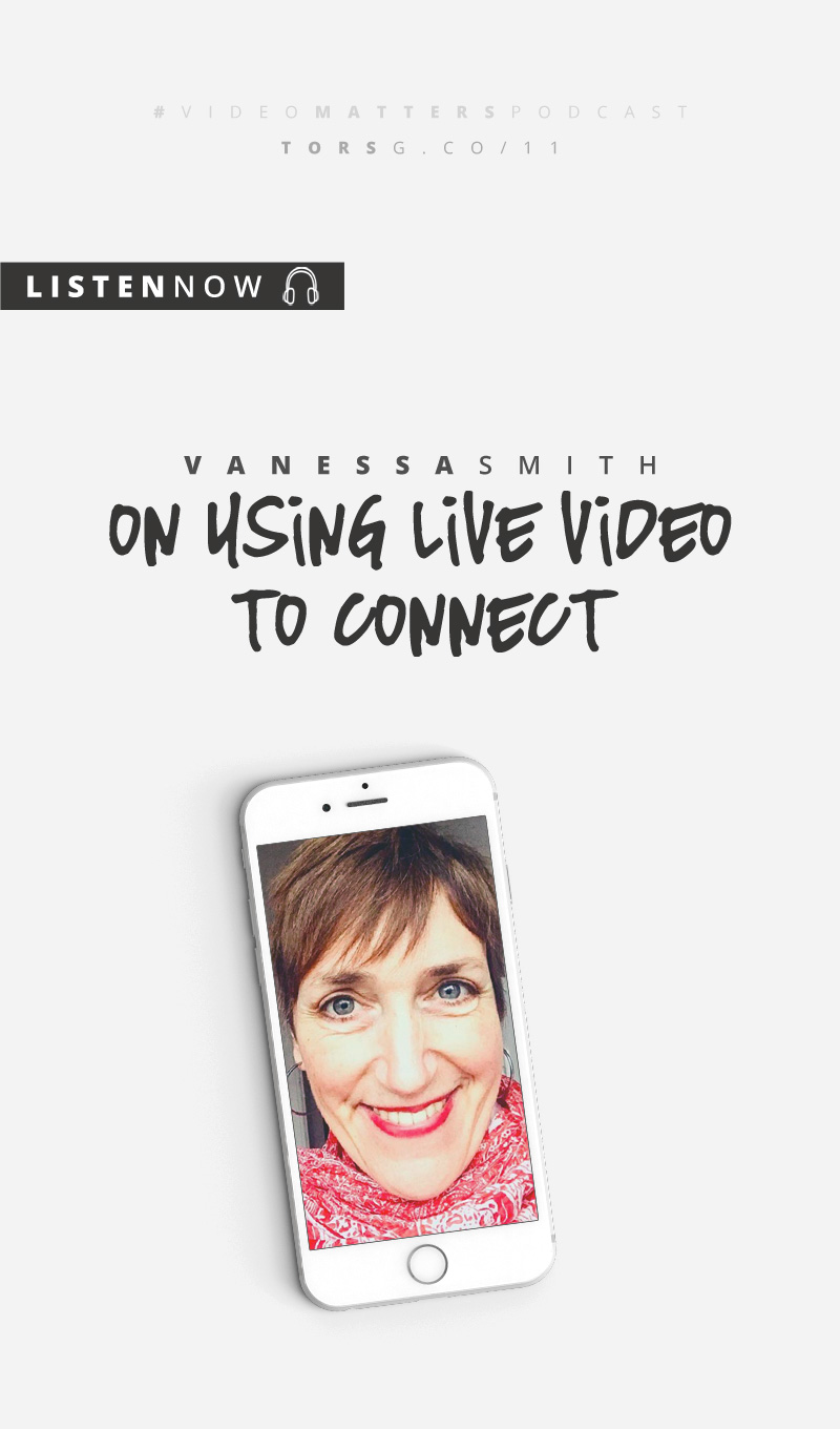 Ever thought about all the cool ways you could use live video for your business? In this episode of the #videomatterspodcast, I talk to Vanessa Smith who's used live video in a few different, and very interesting ways!