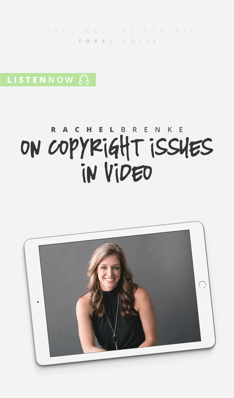 Did you know there's copyright issues around video that could get you in trouble? In this week's episode of the #videomatterspodcast, I chat to lawyer, Rachel Brenke, about stuff you should know to keep out of legal trouble