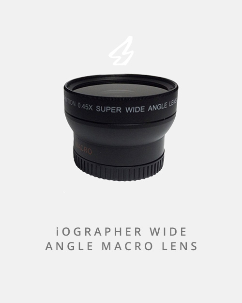 Another add-on for the iOgrapher case, this lens will get the wide version of anything you shoot without making it look like you're in a fishbowl.