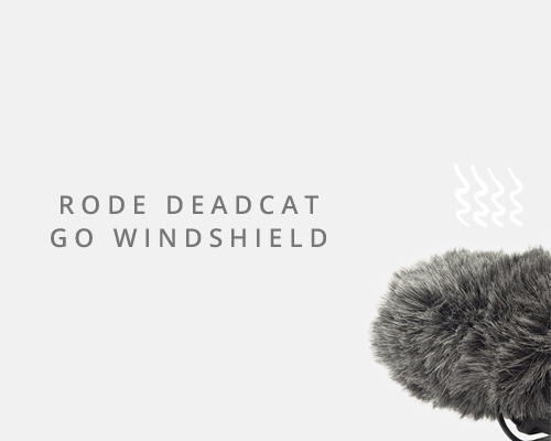 Deadcat it may be, but this little furball will make all your sound woes better. Helps reduce wind and pop when using the Rode Video Mic Go.