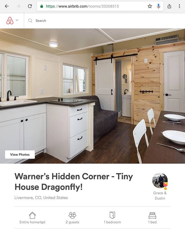 Tiny House #2 now accepting reservations!! #tinyhouse #tinyhousemovement #airbnb #vacation #colorado #fortcollins #offgrid #mountains #cantwait #smallbusiness #ecoresort #reservations #booking #sleep #explore #lovenature #travel #outdoors